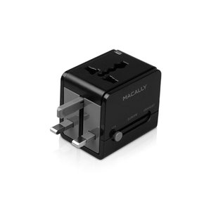 Macally Universal Power Plug Adapter with USB charger - Great for overseas travel!