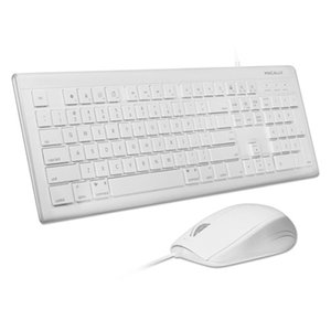 Macally 104 key full-size USB keyboard and mouse combo.