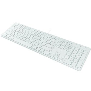 Macally 104 key Ultra Slim USB Wired Keyboard for Mac and PC