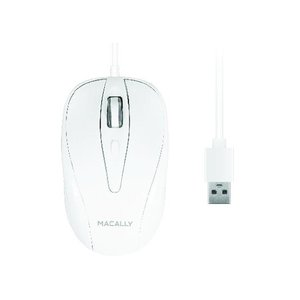 Macally 3 Button Optical USB Wired Mouse for Mac and PC
