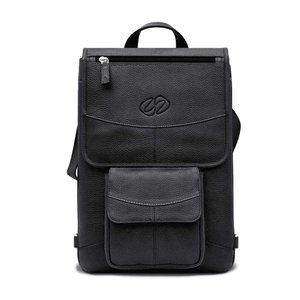MacCase Flight Jacket Premium Leather Laptop Case with Backpack Option - Black