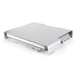 "Macessity LapTuk Pro Aluminum Monitor Stand for Apple laptops with up to 17"" LCD screens."