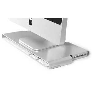 Macessity SlimKey V2 Stand W/ 4 Port USB 3.0 Hub - Designed just for the Apple slim USB keyboard.