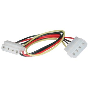 "(*) 0.4 Meter (14"") Micro Accessories Molex Extension - 4 Pin Male (old style) to 4 Pin Female Power"