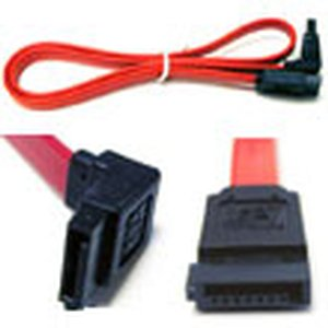 "0.5 Meter (18"") Micro Accessories SATA Internal 7 pin to 7 pin, left angle to straight connector"