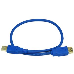 "0.5 Meter (19"") USB 3.0 A/A (male/female) Extension Cable"