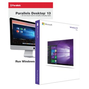 Microsoft Windows 10 Pro 32/64-Bit + Parallels Desktop 13 for Mac Bundle. The Mac you love, the Windows you need.