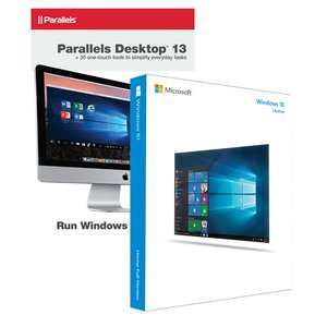 Microsoft Windows 10 Home 32/64-bit + Parallels Desktop 13 for Mac. The Mac you love, the Windows you need.
