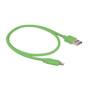 "0.5 Meter (20"") NewerTech Lightning to USB 2.0 Cable. Green. Premium Quality & Durability."