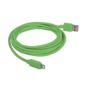 "2.0 Meter (78"") NewerTech Lightning to USB 2.0 Cable. Green. Premium Quality & Durability."