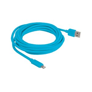 "3.0 Meter (118"") NewerTech Lightning to USB 2.0 Cable. Blue. Premium Quality & Durability."