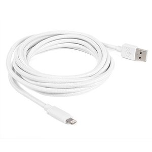 "3.0 Meter (118"") NewerTech Lightning to USB 2.0 Cable. White. Premium Quality & Durability."