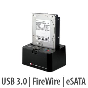 "(*) NewerTech Voyager Q- FireWire 800/400/USB3.0/eSATA Hard Drive Dock for 2.5"" & 3.5"" Drives"