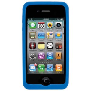 (*) NewerTech NuGuard Silicone Case for original iPhone 4/4S - Blue Color.