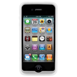NewerTech NuGuard Silicone Case for original iPhone 4/4S - Clear / Frost Color.