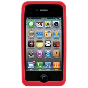NewerTech NuGuard Silicone Case for original iPhone 4/4S - Red Color.