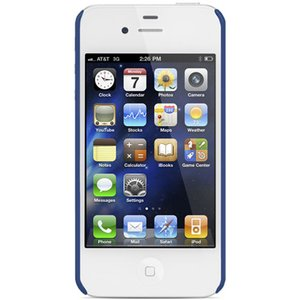 NewerTech NuGuard Carbon Snap Case for all iPhone 4/4S versions - Blue Color.