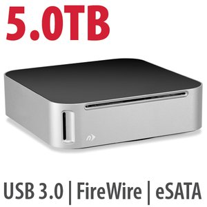 5.0TB NewerTech miniStack MAX Storage Solution w/ Blu-ray burner, USB hub, & SD card reader.