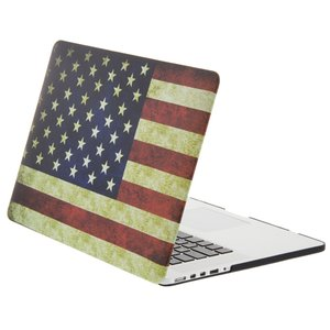 NewerTech NuGuard Snap-On Laptop Cover. American Flag. For 15-inch MacBook Pro with Retina display.