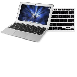 "(*) NewerTech NuGuard Keyboard Cover - Black Color. For use with 11"" MacBook Air 2010."