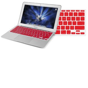 "NewerTech NuGuard Keyboard Cover - Red Color. For use with 11"" MacBook Air 2010."