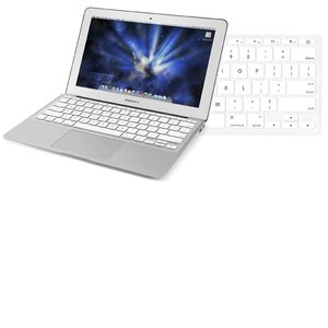 "(*) NewerTech NuGuard Keyboard Cover - White Color. For use with 11"" MacBook Air 2010."