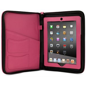 NewerTech iFolio - Premium Pink Leather Case-Holder/Folio for all iPads.
