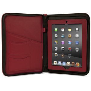 NewerTech iFolio - Premium Red Leather Case-Holder/Folio for all iPads.