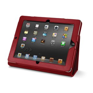 NewerTech The Pad Protector - Slim Leather Folio for Apple iPad 2, 3 & 4. Red Color.