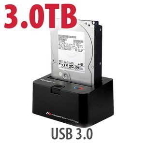 3.0TB 7200RPM HD & NewerTech Voyager S3 'SuperSpeed' USB 3.0 Interface SATA 6Gb/s Dock Bundle