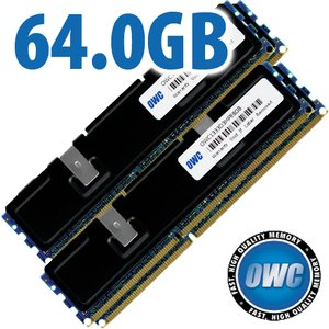64.0GB (4x 16GB) PC10600 DDR3 ECC-Registered 1333MHz SDRAM for Mac Pro 'Nehalem' & 'Westmere' Models