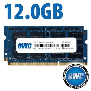 12.0GB (8GB+4GB) PC3-10600 DDR3 1333MHz SO-DIMM 204 Pin CL9 SO-DIMM Memory Upgrade Kit
