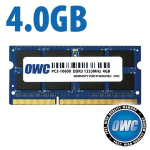 *Retail Pack Single with UPC* 4.0GB PC3-10600 DDR3 1333MHz SO-DIMM 204 Pin CL9 SO-DIMM Memory Module