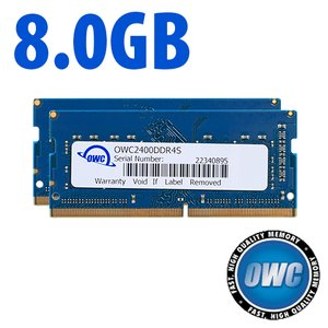 8.0GB (2x 4GB) 2400MHz DDR4 SO-DIMM PC4-19200 260 Pin CL17 Memory Upgrade Kit