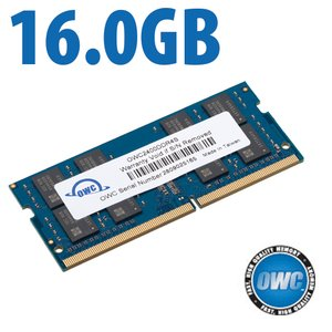 16.0GB 2400MHz DDR4 PC4-19200 SO-DIMM 260 Pin CL17 Memory Module