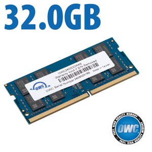 32.0GB 2400MHz DDR4 PC4-19200 SO-DIMM 260 Pin CL17 Memory Module