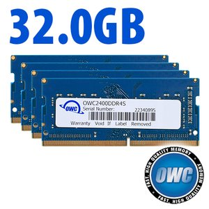32.0GB (4x 8GB) 2400MHz DDR4 PC4-19200 SO-DIMM 260 Pin CL17 Memory Upgrade Kit