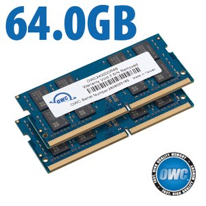 64.0GB (2x 32GB) 2400MHz DDR4 PC4-19200 SO-DIMM 260 Pin CL17 Memory Upgrade Kit