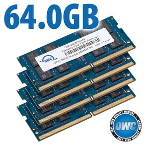 64.0GB (4x 16GB) 2400MHz DDR4 SO-DIMM PC4-19200 260 Pin CL17 Memory Upgrade Kit
