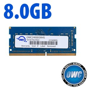 8.0GB 2400MHz DDR4 PC4-19200 SO-DIMM 260 Pin CL17 Memory Module