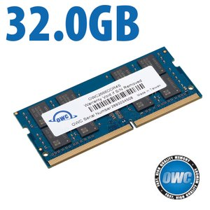 32.0GB OWC 2666MHz DDR4 PC4-21300 260-Pin SO-DIMM Memory Upgrade