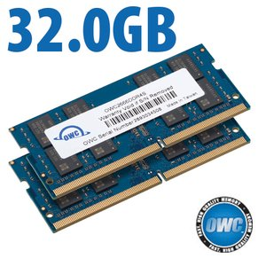 32.0GB (2x 16GB) OWC 2666MHz DDR4 PC4-21300 260-Pin SO-DIMM Memory Upgrade Kit