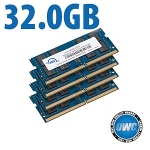 32.0GB (4x 8GB) 2666MHz DDR4 SO-DIMM PC4-21300 SO-DIMM 260 Pin Memory Upgrade Kit