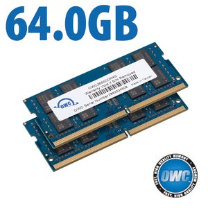 64.0GB (2x 32GB) 2666MHz DDR4 SO-DIMM PC4-21300 SO-DIMM 260 Pin Memory Upgrade Kit