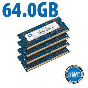 64.0GB (4x 16GB) 2666MHz DDR4 SO-DIMM PC4-21300 SO-DIMM 260 Pin Memory Upgrade Kit