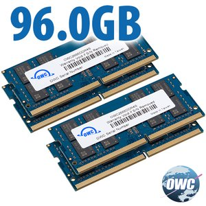 96.0GB (2x 32GB + 2x 16GB) 2666MHz DDR4 PC4-21300 SO-DIMM 260 Pin Memory Upgrade Kit