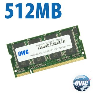 512MB PC2700 DDR 333MHz CL 2.5 200 Pin Low-Profile (non-stacked!) SO-DIMM