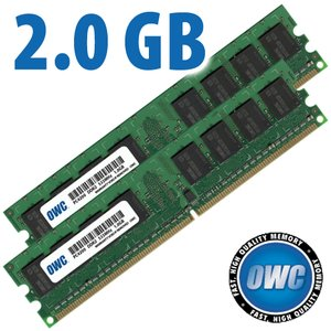 2.0GB Matched Pair (1GB modules x 2) PC4200 DDR2 533MHz 240 Pin DIMM Modules
