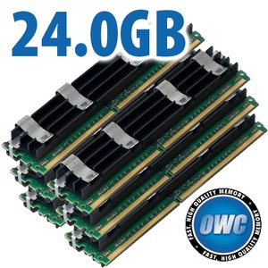 24.0GB Mac Pro Memory Matched Set (6x 4GB) PC5300 DDR2 ECC 667MHz 240 Pin FB-DIMM Modules