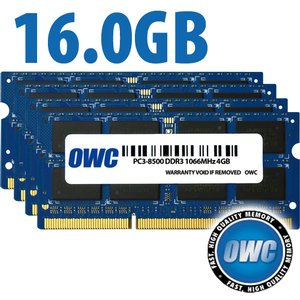 "16.0GB (4x 4GB) PC-8500 DDR3 kit for all Apple iMac 21.5"" and 27"" Models (Oct/2009)"